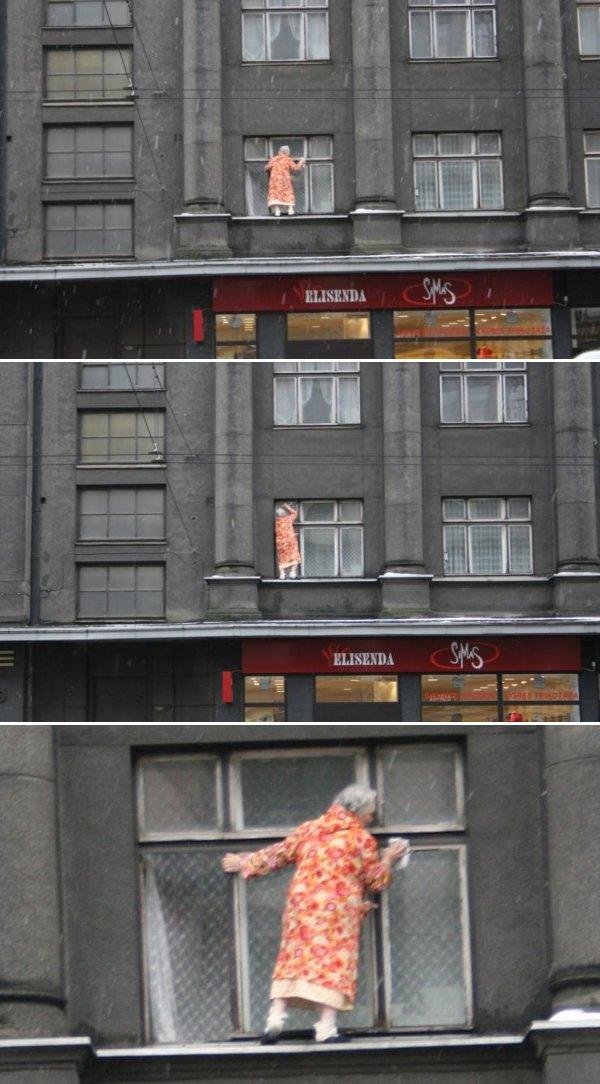 Wie man Fenster NICHT putzen sollte
