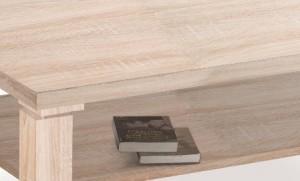 Dieser Couchtisch von Möbel100 hat eine sägeraue Optik und liegt damit voll im Trend. Foto: Hersteller