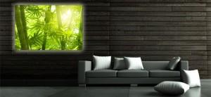 Das Leuchtposter - wenn es dezent mit einem coolen Motiv versehen ist - wertet den Raum auf. Foto: leuchtposter.eu