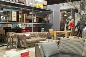 Vintage Style ist angesagt, so wie bei diesem Ledersofa von Gutmann Factory. Foto: Kölnmesse